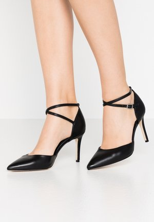 LEATHER PUMPS - Høye hæler - black