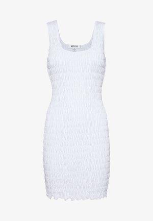 FESTIVAL EXCLUSIVE SHIRRED BODYCON MINI DRESS - Etuikjole - white