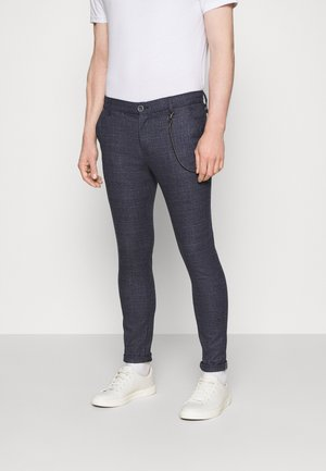 TRAVIS - Trousers - mottled dark grey