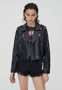 PULL&BEAR - Faux leather jacket - black - 0