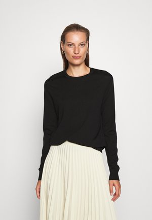 JUMPER - Strikkegenser - black dark
