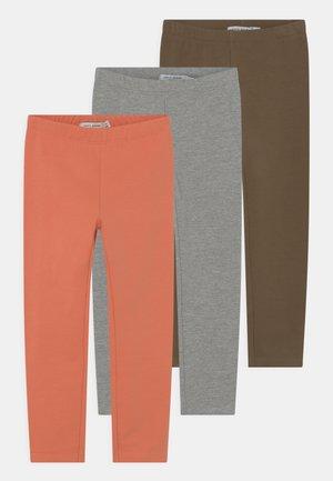 NKFDAVINA 3 PACK - Leggings - Trousers - stone gray