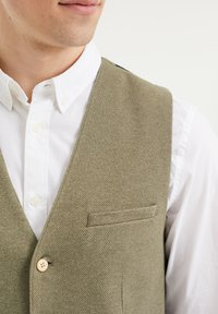 WE Fashion - Suit waistcoat - olive green - 4