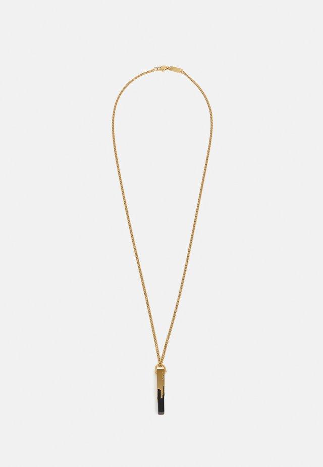 GLITCH UNISEX - Halskette - polished black/gold-coloured