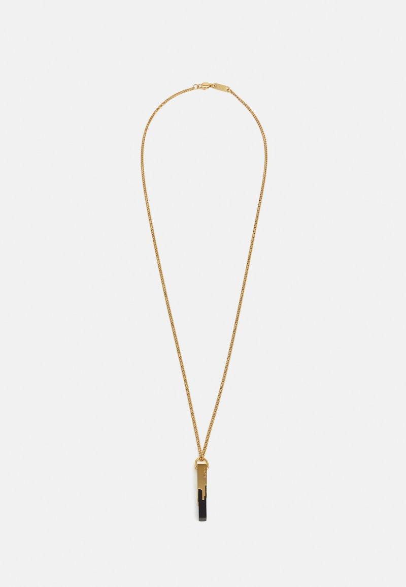 Vitaly - GLITCH UNISEX - Necklace - polished black/gold-coloured