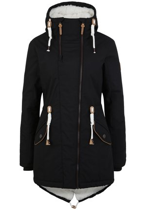 MIT TEDDY INNENFUTTER - Winter coat - black