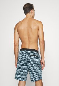 J.CREW - SEAWAVE PRINT POOL - Swimming shorts - blue/black - 1