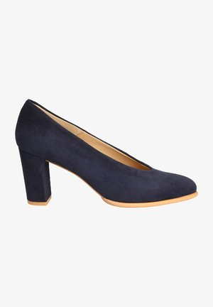 Platform heels - dark blue