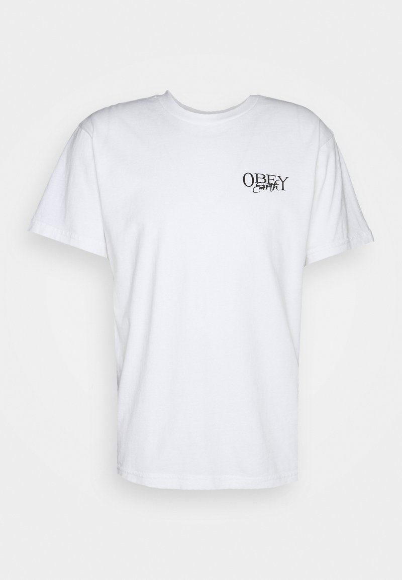 Obey Clothing - EARTH SPORES - Printtipaita - white