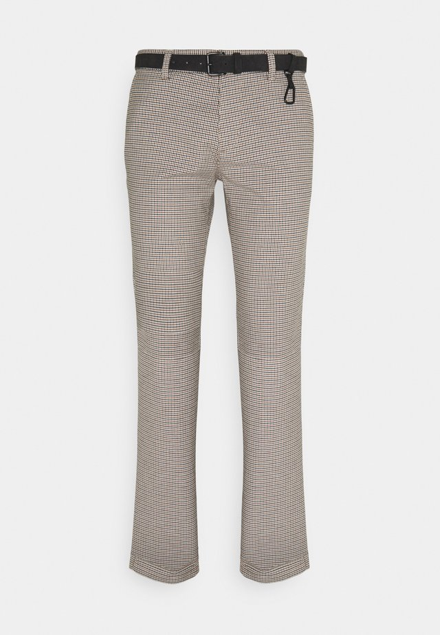 STRUCTURED - Chino kalhoty - beige/navy/brown
