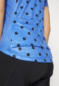 ODLO - STAND UP COLLAR FULL ZIP ELEMENT - T-Shirt print - amparo blue melange/diving navy - 5