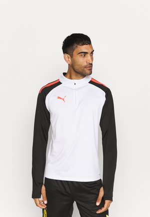 TEAMLIGA ZIP - Sports shirt - white/red blast/black