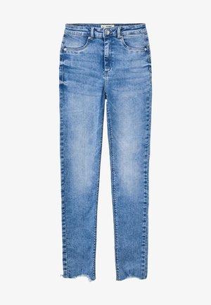 HIGH WAIST PUSH UP SKINNY JEANS - Jeans Skinny Fit - blu