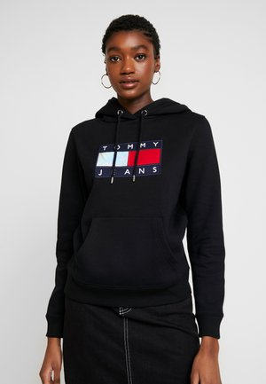 METALLIC HOODIE - Sweat à capuche - black
