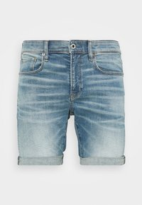 3301 SLIM SHORT - Jeansshorts - blue denim
