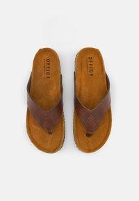 Office - SAUL TOE POST  - T-bar sandals - brown - 3