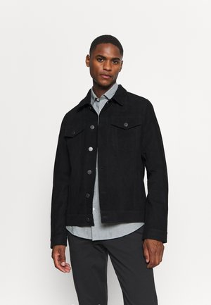 SLHJEPPE - Leather jacket - black