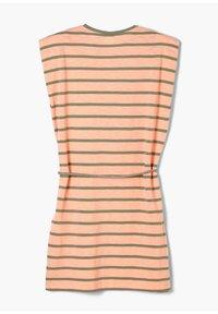 s.Oliver - Jersey dress - neon peach stripes - 1