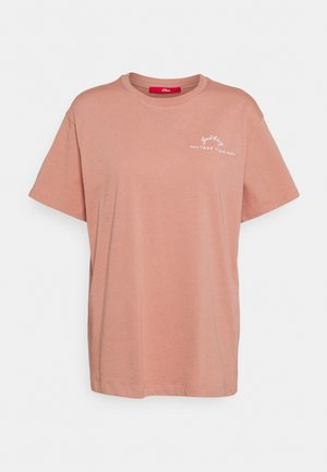 KURZARM - Print T-shirt - blush plac