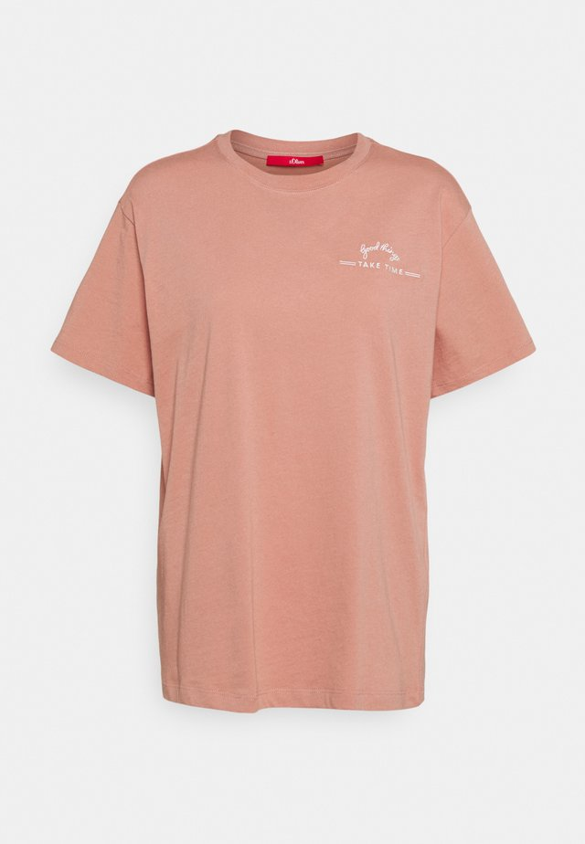 KURZARM - T-shirt print - blush plac