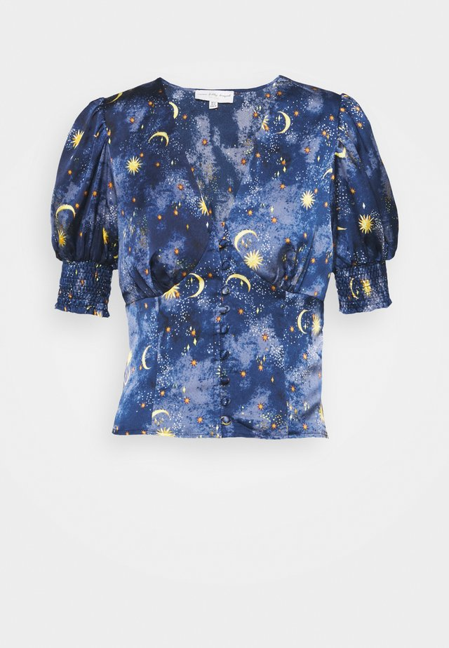 MOON & STARS SHORTSLEEVE LINDOS - Blouse - navy multi