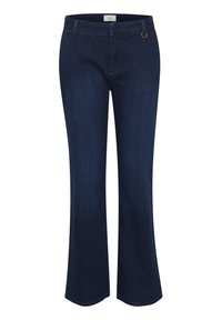 PULZ - PXLEONORA - Bootcut jeans - dark blue denim - 0