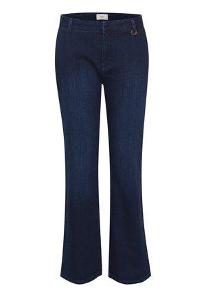 PXLEONORA - Bootcut jeans - dark blue denim