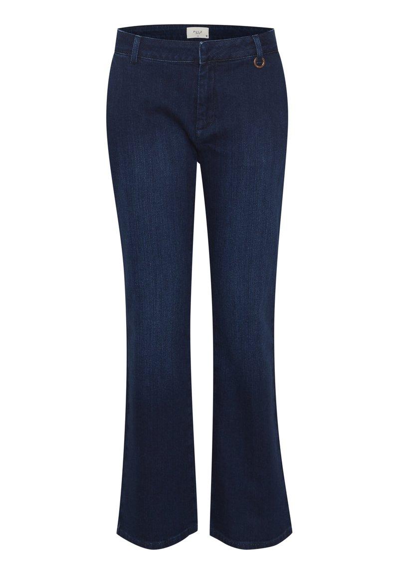PULZ - PXLEONORA - Bootcut jeans - dark blue denim