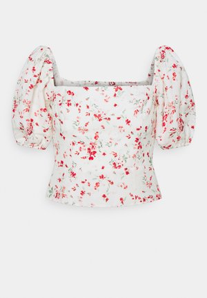 LINDA SQUARE NECK PUFF SLEEVE TOP - Blouse - savannah