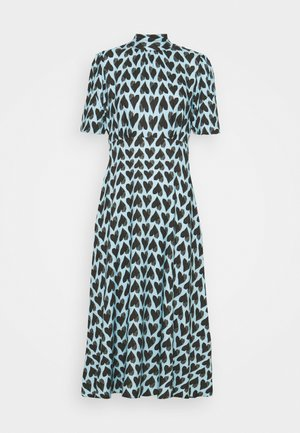 TIE BACK A-LINE DRESS - Day dress - blue