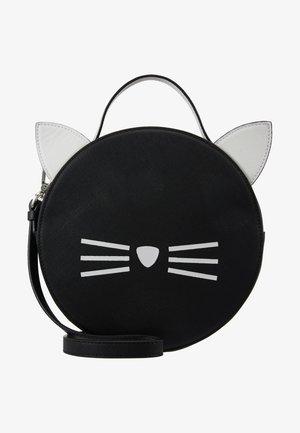 SHOULDER BAG - Taška spříčným popruhem - black/white
