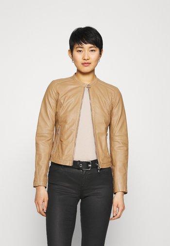 EMELLIE - Leather jacket - iced coffee