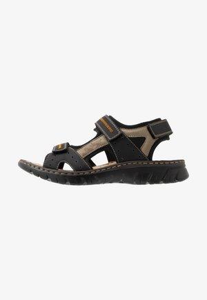 Sandalias de senderismo - schwarz/elefant
