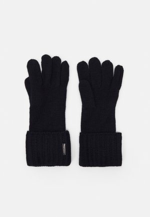 SHAKER CABLE GLOVE UNISEX - Gloves - dark midnight