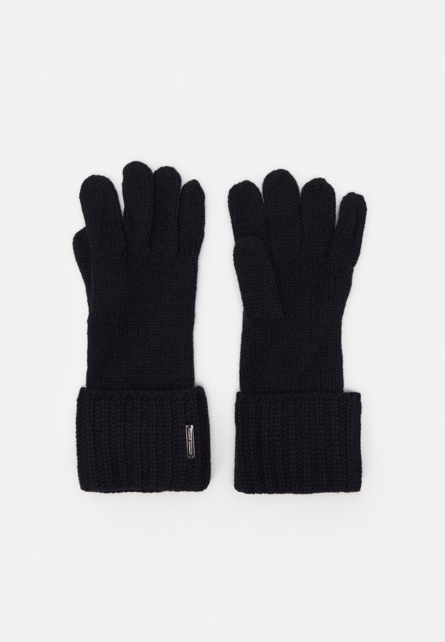 SHAKER CABLE GLOVE UNISEX - Sormikkaat - dark midnight