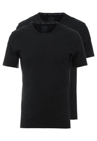 Calvin Klein Underwear - CREW NECK SLIM FIT 2PACK - Camiseta interior - black - 0