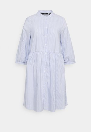 VMSISI DRESS - Shirt dress - snow white/cashmere blue