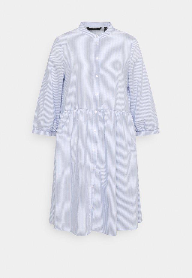 VMSISI DRESS - Shirt dress - snow white/cashmere blue