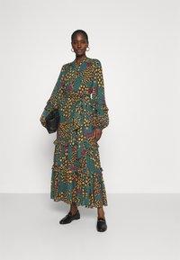 Farm Rio - TEAL BANANA MAXI DRESS - Maxi dress - multi - 1