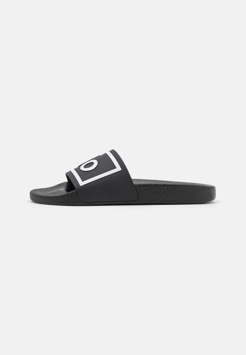 Polo Ralph Lauren - SLIDE UNISEX - Mules - black/white