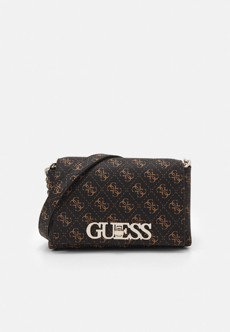 Guess - UPTOWN CHIC MINI XBODY FLAP - Across body bag - brown