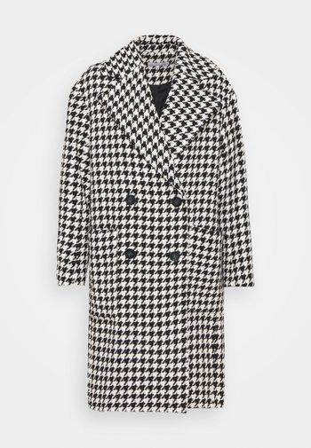 ELIZABETH OVERSIZED CHECKED COAT - Classic coat - black/white