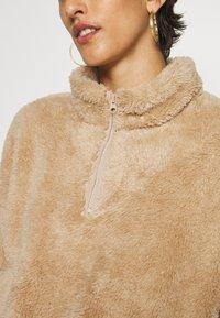 ONLY Tall - ONLBEA CONTACT SHERPA ANORAK  - Fleece jumper - cuban sand - 4