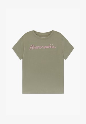 SEQUIN LOGO TEE - Triko s potiskem - light green