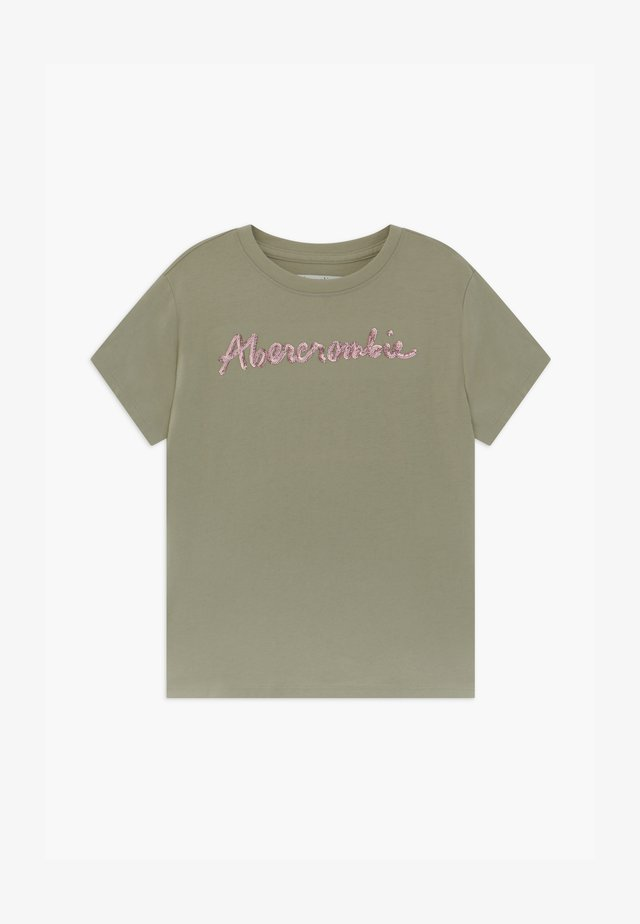 SEQUIN LOGO TEE - Print T-shirt - light green