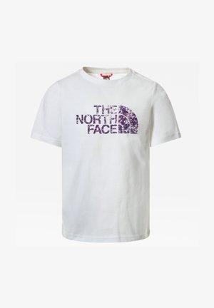WARM STORM RAIN JACKET - T-shirt print - white