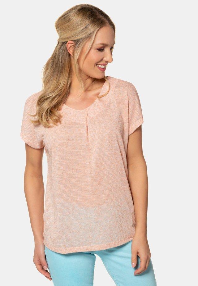 ZIERFALTE, V-AUSSCHNITT 724847 - T-shirt print - teint
