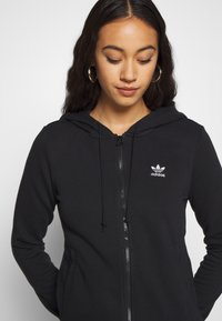 adidas Originals - TRACK - Zip-up hoodie - black - 4