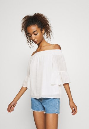 ONLOLIVIA OFF SHOULDER - Blouse - cloud dancer