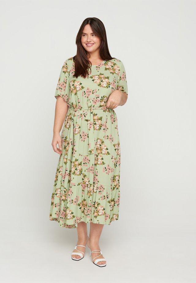Korte jurk - light green april